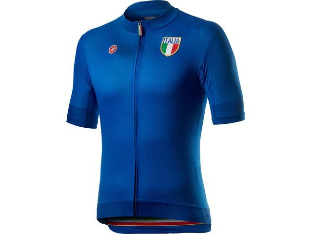 Castelli Italia 20 Maillot Manches courtes Homme, azzurro italia